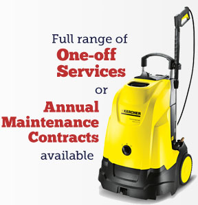 Cleaning Equipment Servicing Packages